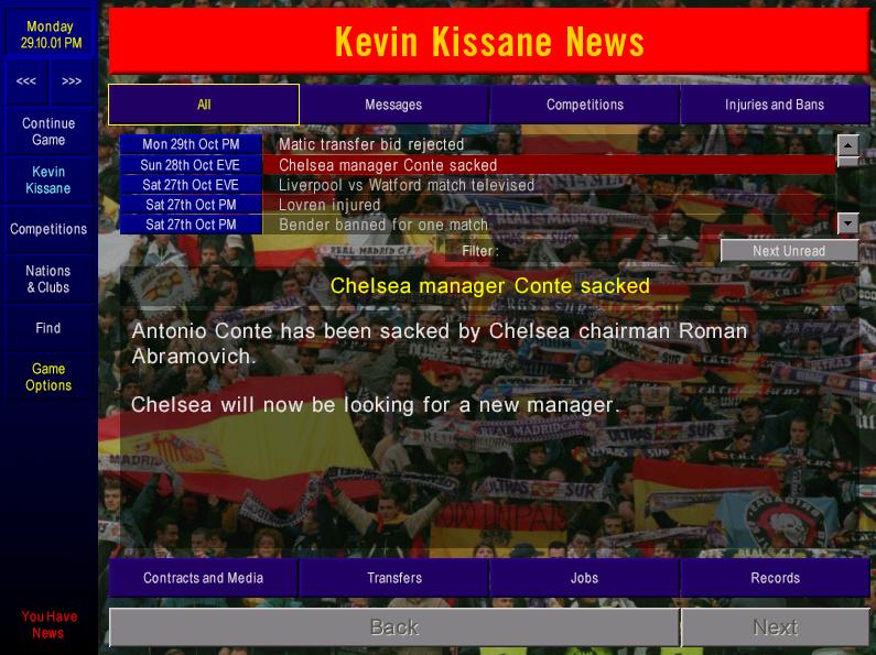 Conte sacked