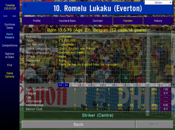 Lukaku support