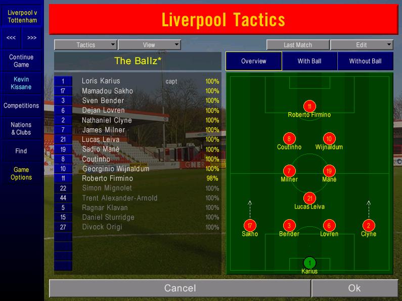 Match 9 lineup