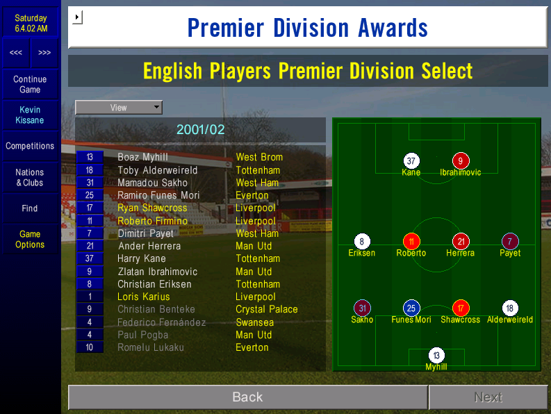 PFA team of the season