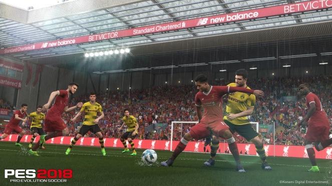 PES 2018 Liverpool Borussia Dortmund Anfield